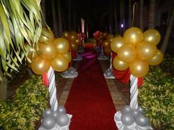 Lighting red carpet