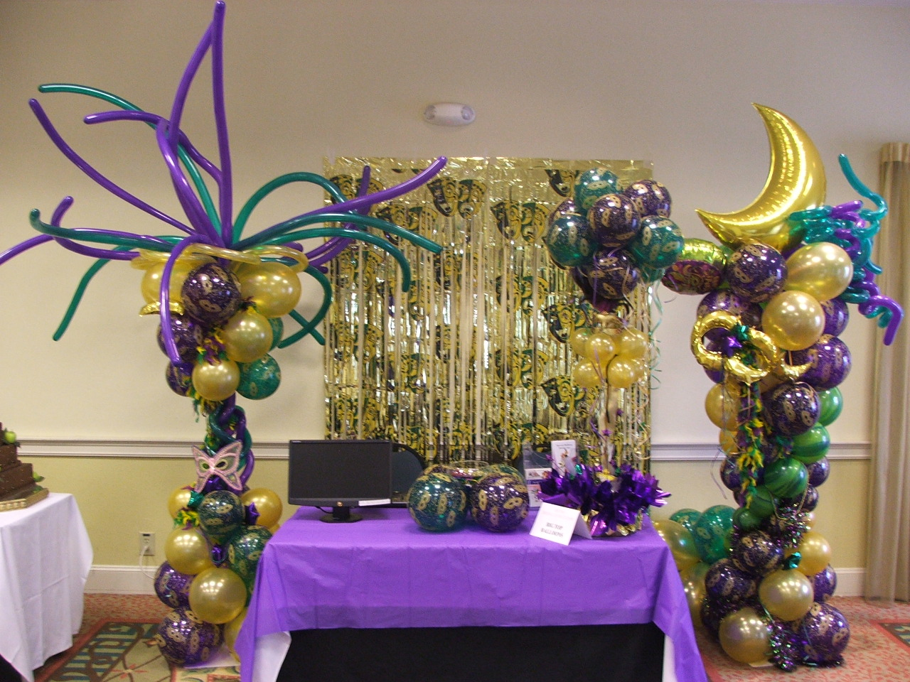Mardi Gras party decoration