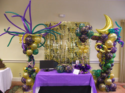 Mardi Gras party decoration