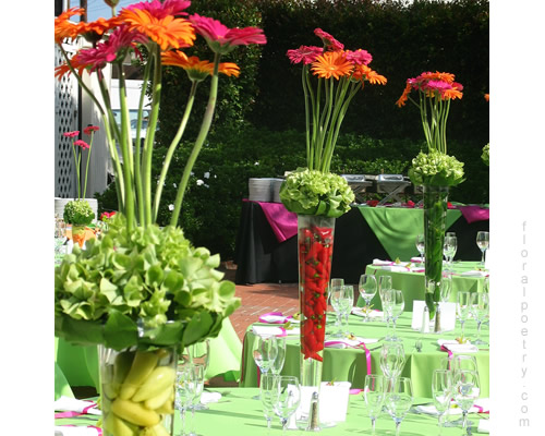 Sunset Hot Colors Centerpiece