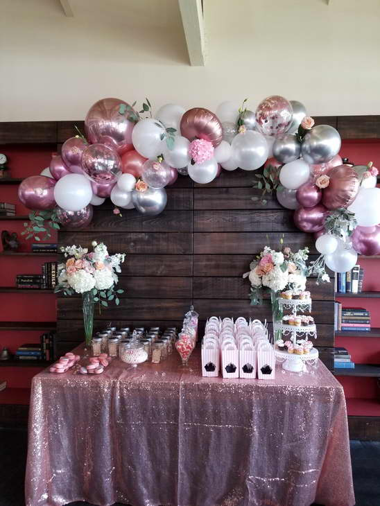 Balloon Garland Over The Table