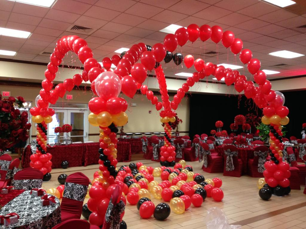 Dance Floor Balloon Columns