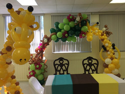 Baby shower tropical decoration