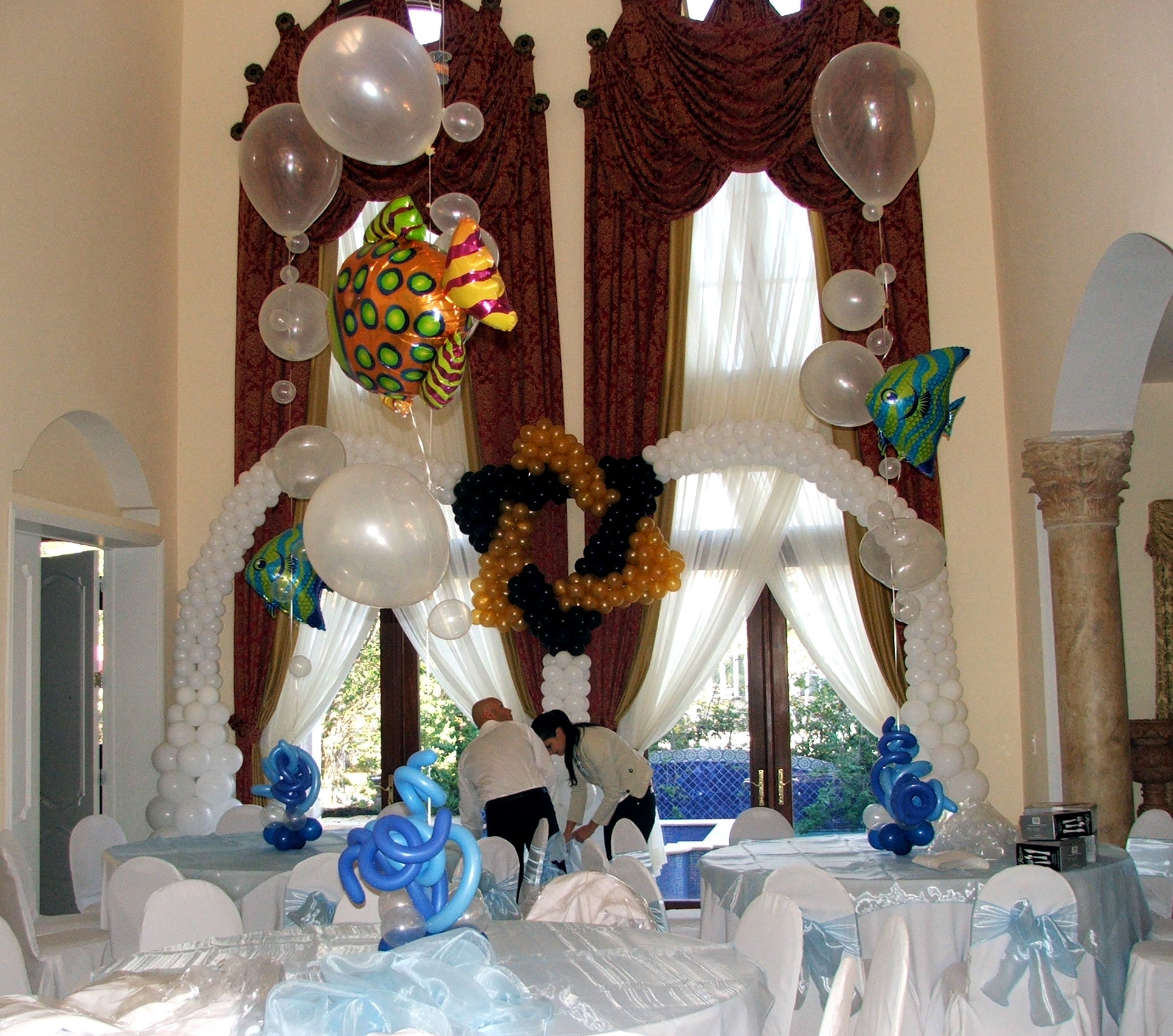 Sea theme Mitzvah decoration