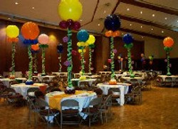 Huge Colorful Balloons Centerpieces
