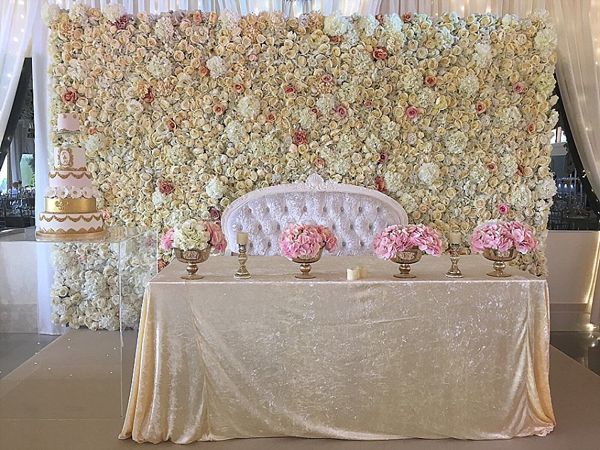 Fresh Flower Backdrop Design