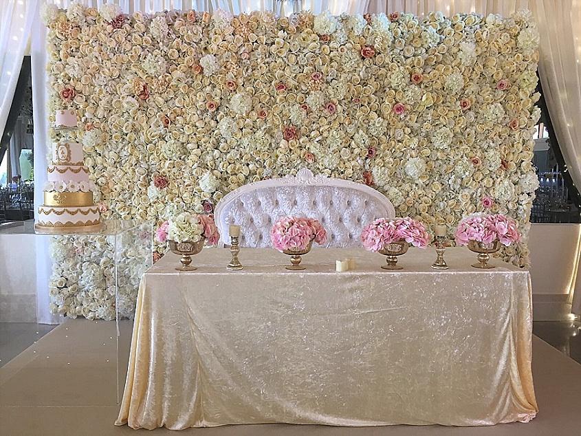 Wedding Flower Wall