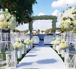 Wedding Acrylic Arch White Runner, Weddi