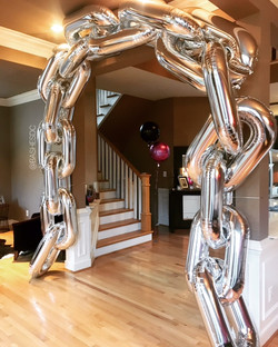 Chain Design Chrome Balloon Garland
