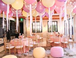 Big Pastel Balloons & Silk Ribbons