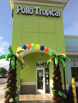 Palm Tree Balloon Arch