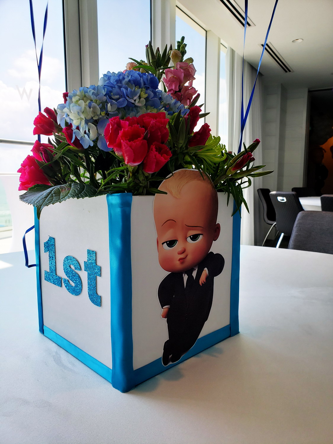 Boss Baby Centerpiece Idea