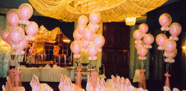 Pink and Gold Balloon Design