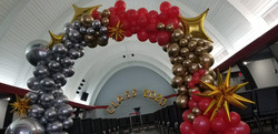 Graduation Balloon Garland Chrome Silver, Gold, & luxury Design