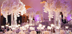 Whit Orchids and Crystals