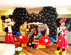 Mickey & Minnie theme party decoration and characters