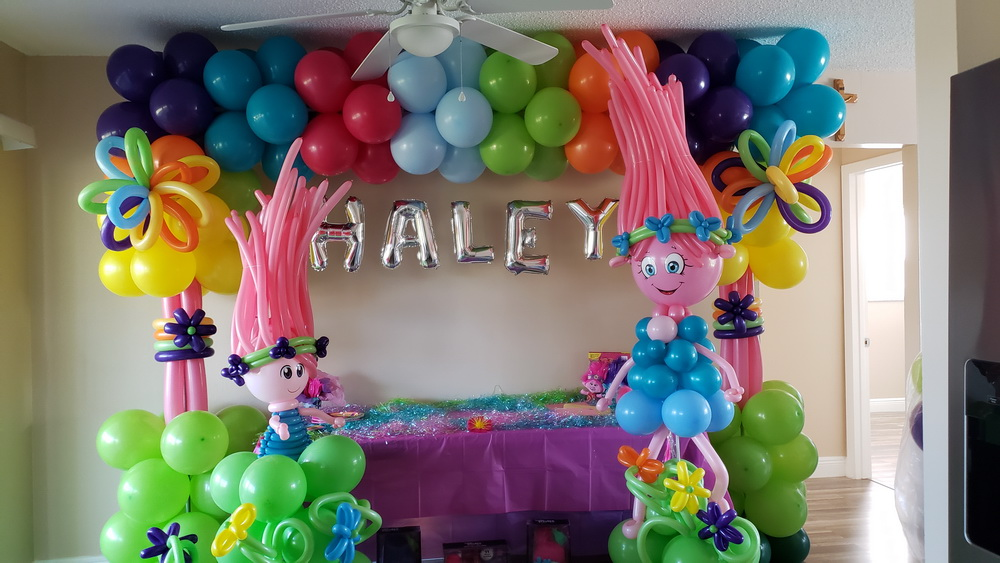 Trolls Themed Cake Table Decoration