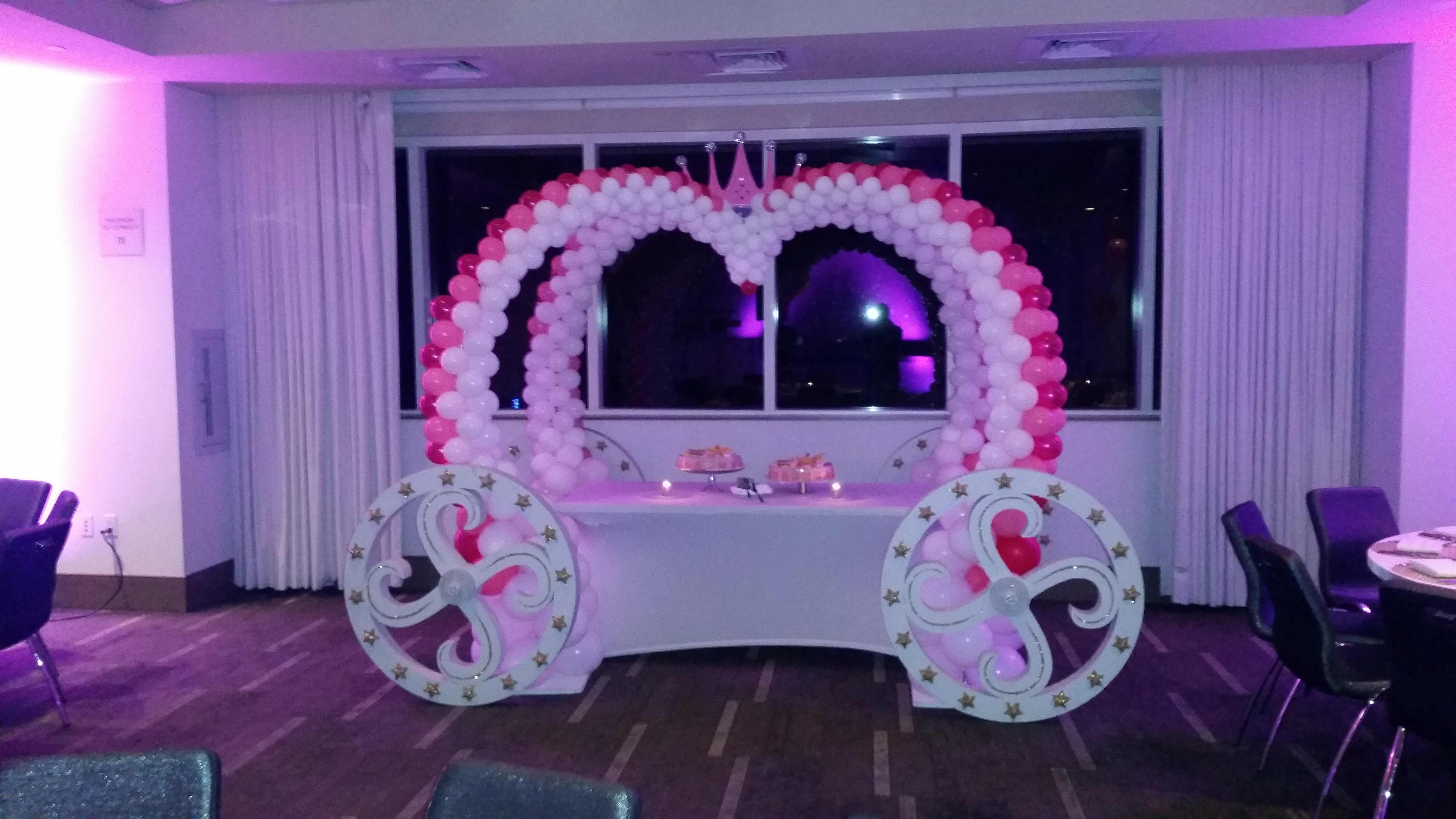 Princess Balloon Carriage Arch