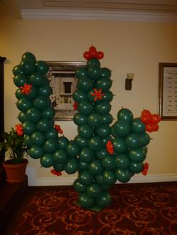 Cactus balloon sculpture