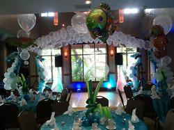 Underwater theme balloon canopy