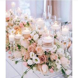 Flowers and Candles Wedding decoration