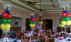 Balloons in Balloon Centerpiece