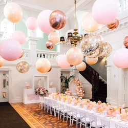 Ceiling Balloons Decoration/3 Foot Pink & Confetti Balloons