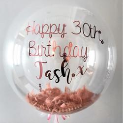 Custom Script Balloon Decal 30th birthda