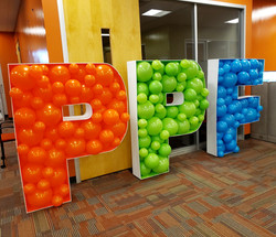 PPF mosaic balloon letters!