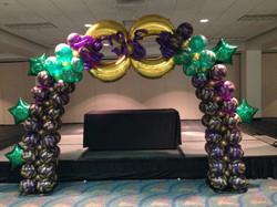 Mardi Gras balloon design