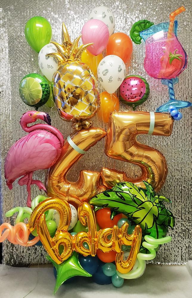 Hawaii Style Birthday Balloon design