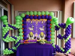 Shrek Theme Cake Table