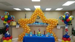 Super Mario Themed Balloon Sculpture