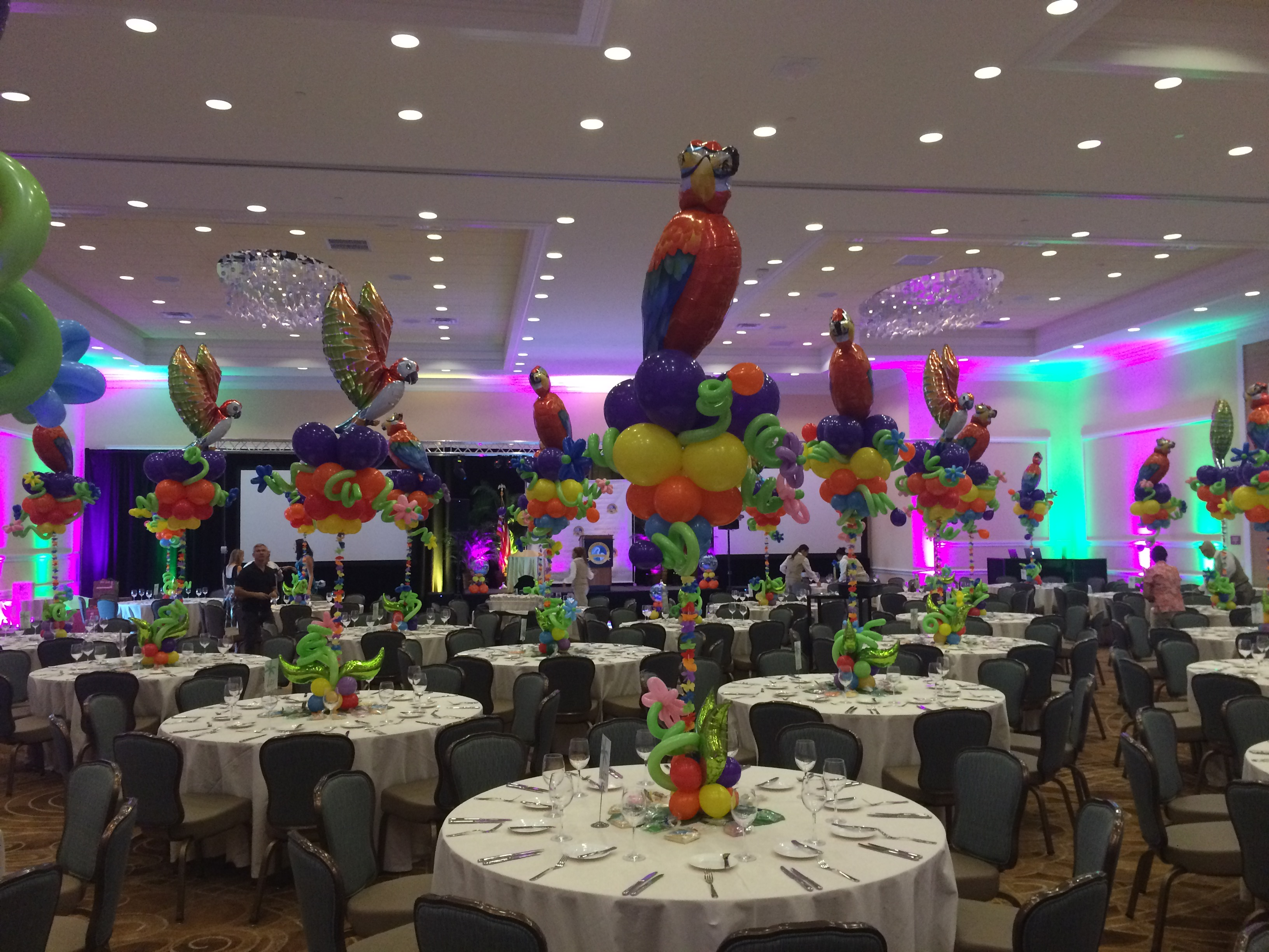Parrot Balloon Centerpieces