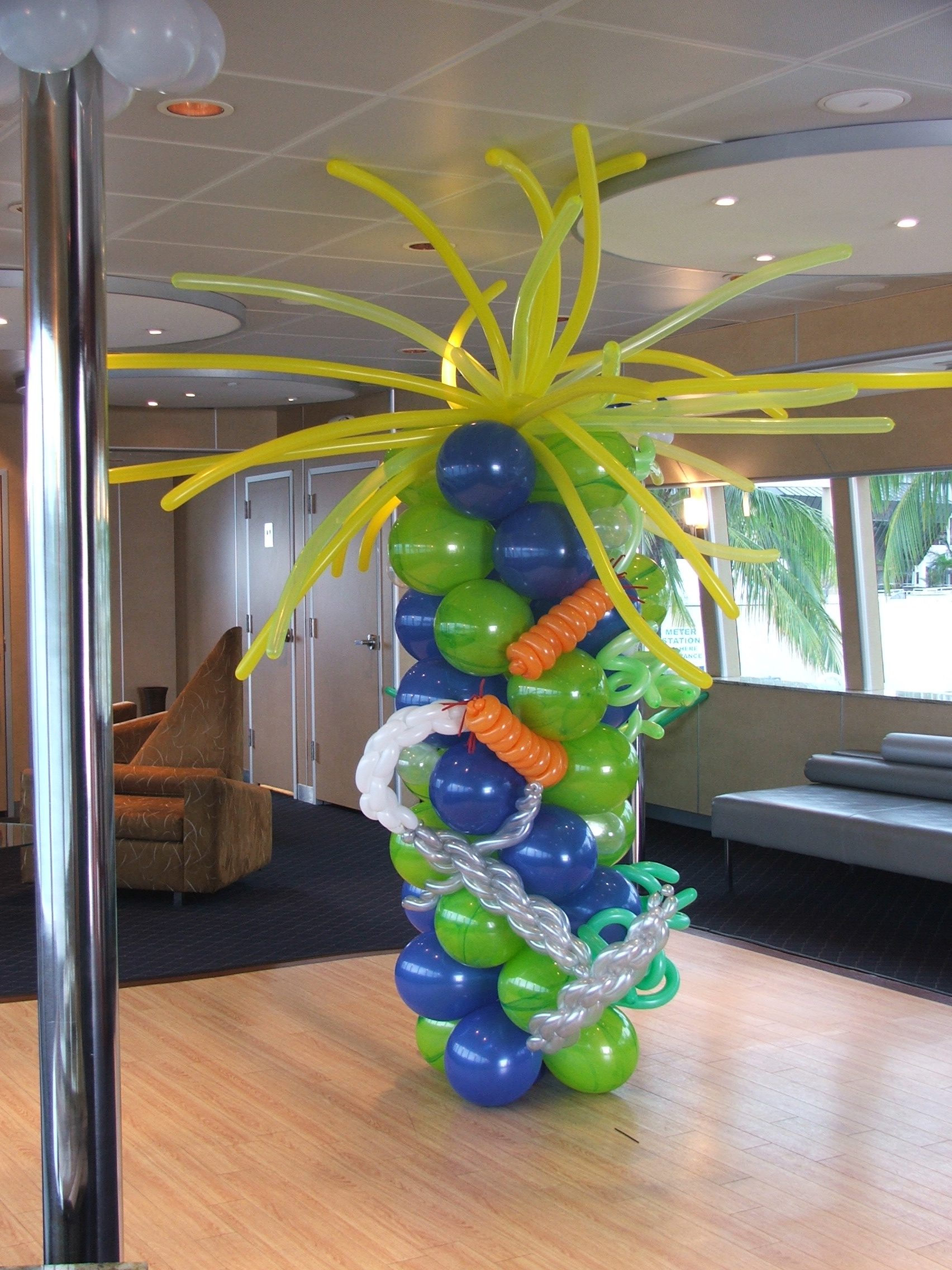 Sea Themed Balloon Column