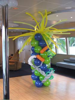 Sea Themed Balloon Column