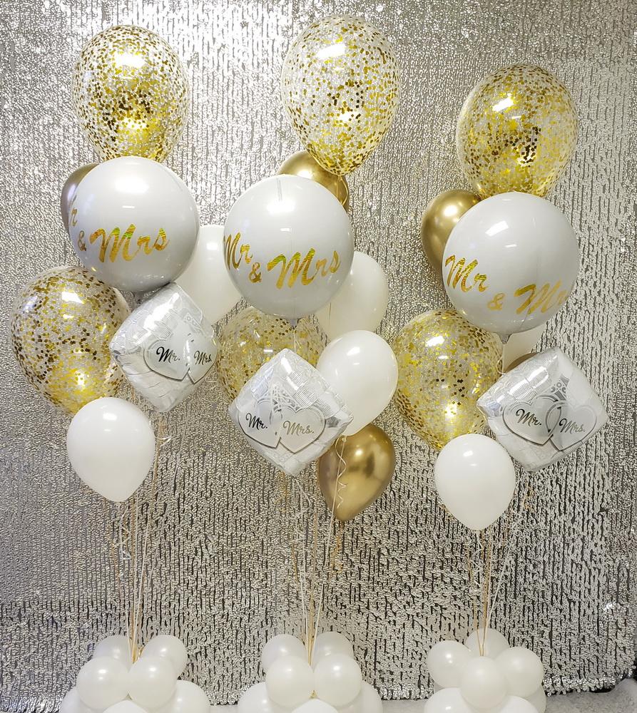 Mr & Mrs Engagement Balloon Arrangement