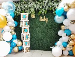 Greenery Backdrop & Organic Balloons