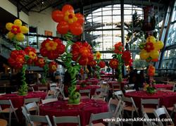 Hawaii balloon flower centerpiece