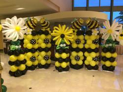 Honey Bee theme balloon columns