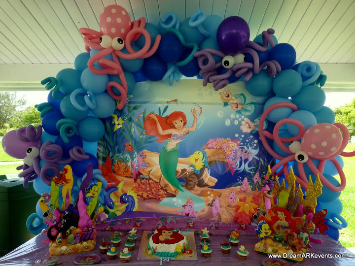 Mermaid theme balloon arch