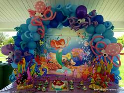 Mermaid theme balloon arch