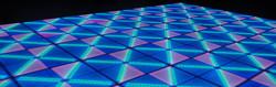 LED dance floor lighted