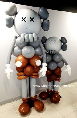 Kaws balloon sculpture