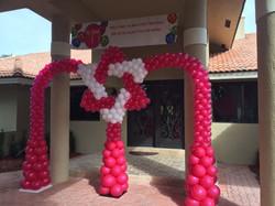 David Star Balloon Arch