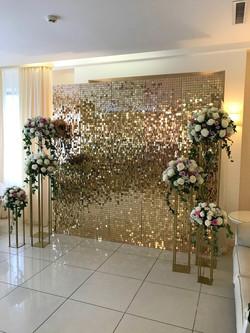 Stunning Iridescent Gold Mirror Shimmer Backdrop