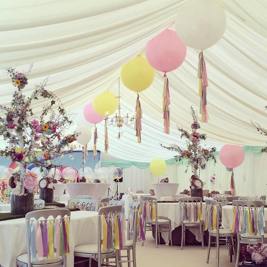 Pastel Big Balloon and Ribbon