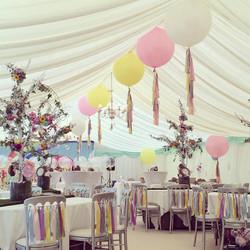 Vintage Theme Big Balloons Ceiling