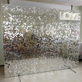 Silver Shimmer Sequin Wall