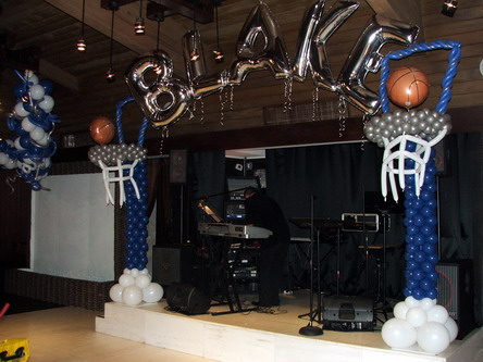 Basketball Balloon Column